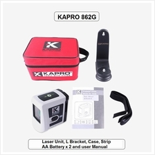 KAPRO 862G PROLASER CROSS LINE GREEN LASER WITH L-BRACKET AND SOFTCASE