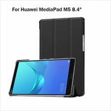 Huawei Mediapad M5 8.4' Tri-Fold PU Leather Standable Case Cover