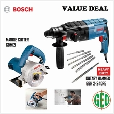 BOSCH VALUE DEAL : GBH 2-24DRE ROTARY HAMMER + GDM 121 MARBLE CUTTER