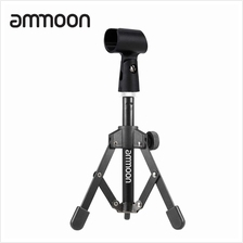 ammoon MS-12 Mini Foldable Adjustable Desktop Microphone Stand Tripod with MC5