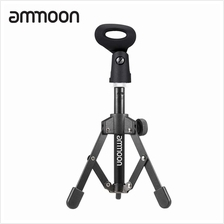 ammoon MS-12 Mini Foldable Adjustable Desktop Microphone Stand Tripod with MC4