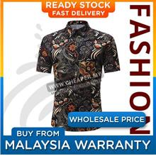 Men's Short-Sleeved Top Summer Break Hawaii Casual Printed Floral Coll