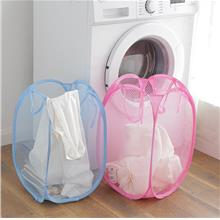 Pop Up Washing Clothes Laundry Basket Bag Foldable Mesh Storage Toy Container