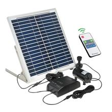 Decdeal Multi-functional Solar Power Fountain 15W Solar Panel + 3.6W Brushless