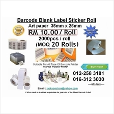 35mm x 25mm Artpaper Label Barcode Sticker RM 10 per roll