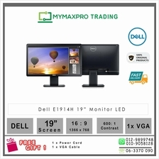 "Dell E1914H 19"" LCD Monitor 19-inch 200 cd/m² 1366x768 VGA"