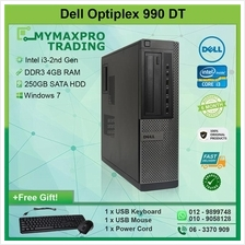 Dell Optiplex 990 DT Intel i3-2nd Gen 4GB 250GB HDD Win 7 Desktop