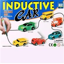 Toy Magic Inductive Car Truck Follows Black Line Kids Gift