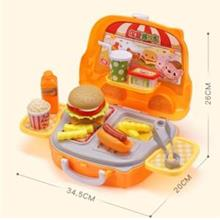 Ice Cream Ham Burger Tools Kitchen Food Pretend Play Set Kid Toys Gift