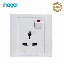 HAGER STYLEA 16A 3 PIN UNIVERSAL SWITCH SOCKET