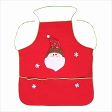 Santa Claus Snowman Apron with Pocket Christmas Dinner Party (RED)