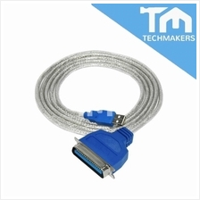 USB 2.0 to DB25 Female Parallel Printer Cable
