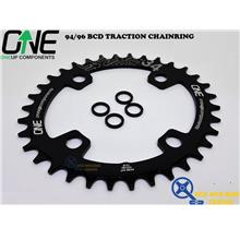 ONEUP COMPONENTS Oval Traction Chainrings 94/96 BCD