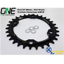 ONEUP COMPONENTS Oval XT M8000 / SLX M7000 Traction Chainrings 96BCD