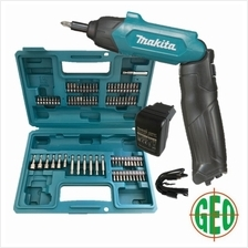MAKITA DF001DW 3.6V CORDLESS SCREWDRIVE WITH 81PCS ACCESSORIES  & CASE