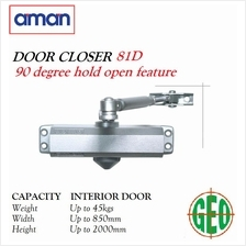 AMAN 81D 90 DEGREE HOLD OPEN FEATURE DOOR CLOSER