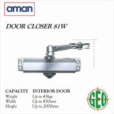 AMAN 81W DOOR CLOSER HOLD UP TO 45KG DOOR WEIGHTS