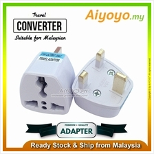 Universal 3 Pin Plug Socket Travel Adaptor US EU CHINA To Malaysia UK Converte