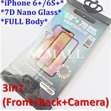 new product bfcae cd23b (3in1) ITOP 360 Full Body Cover 7D Nano Glass Apple iPhone 6+ 6S+ Plus