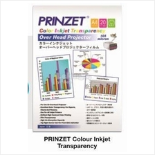 Prinzet Colour Inkjet Transparency A4 105micron 20's