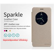new style 14c9e 4b06d Nillkin OPPO F1S A59 Flip APP Smart Sparkle Case Cover Casing + Gift