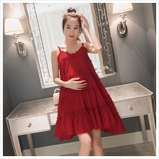 Maternity Clothing Dress Pregnant Women Outwear Soft Cotton Casual Sum