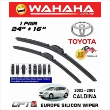 "TOYOTA CALDINA 2002 - 2007 OPT7 Car EU Silicon Wiper 24""+16"""