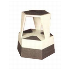 Library Book Equipment Kick Step Stool 6Sided Steel