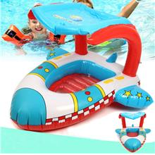 Inflatable Toddler Baby Swimming Ring Plane Float Kid Swimming Pool Se..