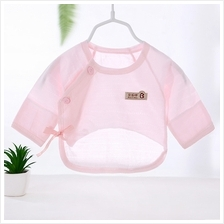 Baby Clothing Tops Newborn Summer Spring Long Sleeved Overlap Cotton C