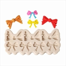 DIY Bowknot Cake Mold Chocolate Fondant Decorating Tool Lace Border Silicone B