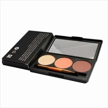 Professional 3 Color Shimmer Glitter Makeup Eyeshadow Palette with Mirror  & D