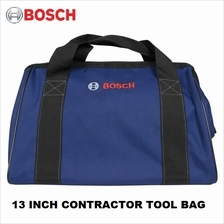 BOSCH 13 x 9 x 8 INCH DARK BLUE CANVAS CONTRACTOR TOOL BAG