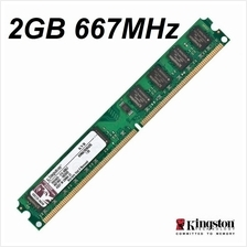 2GB Kingston Desktop PC DDR2 RAM 667Mhz PC2-5300 KVR667D2N5/2G Memory
