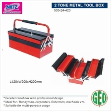 NIETZ 2 TONE METAL TOOL BOX