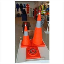 Safety Retractable & Foldable Traffic Cone with LED 45cm / 65cm