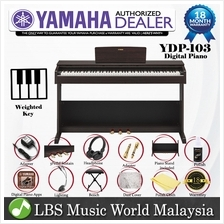 Yamaha YDP-103 88 Key Digital Piano Electric Organ With Cover Deluxe