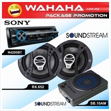 Package Promotion ! SONY MEX-N4200BTCAR PLAYER + SPEAKERS + SUBWOOFER