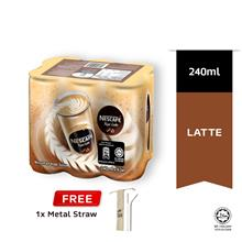 NESCAFE Latte RTD 240ml Buy 1 Clusters Free Metal Straw