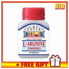 21st Century L-Arginine 1000mg 30s For Energy