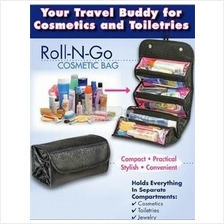 Roll N Go-Hanging-Cosmetic Bag-Travel Buddy 4 in 1-Toiletry Jewelry