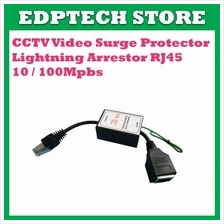 CCTV Video Surge Protector Lightning Arrestor RJ45 10 / 100Mpbs