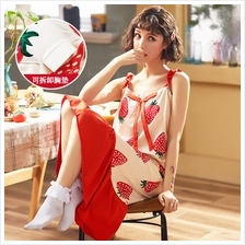 Maternity Clothing Sleepwear Long Cotton Printed Dress Loose Night Pre