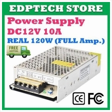 Switching Power Supply DC 12V 10A 120W Full Amp for CCTV Camera, Alarm