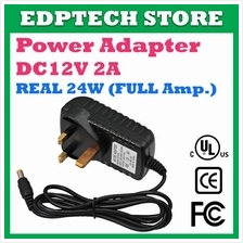 Power Supply Adapter DC 12V 2A 24W Full Amp CCTV - Camera, Door Access