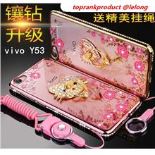 low priced 8aae6 db561 ViVO Y53 Soft Diamond TPU Back Case Cover Casing + Ring Stand