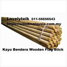 6ft Wooden Flag Stick Banner Hard Wood Rod Kayu Bendera