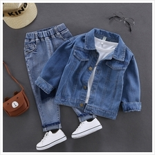 Kids Clothing Boys Tops Denim Button Down Jacket Summer Autumn Outfits