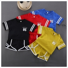 Kids Clothing Boys Set Sports Summer Shorts Cotton Short Sleeved T- Sh