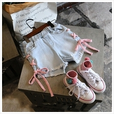 Kids Clothing Girls Bottoms Denim Tattered Children's Summer Shorts Wi